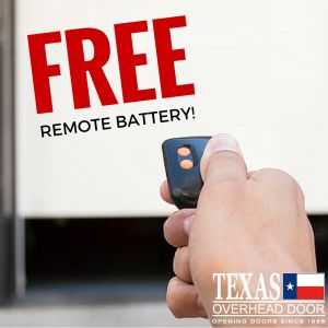 free replacement garage remote battery