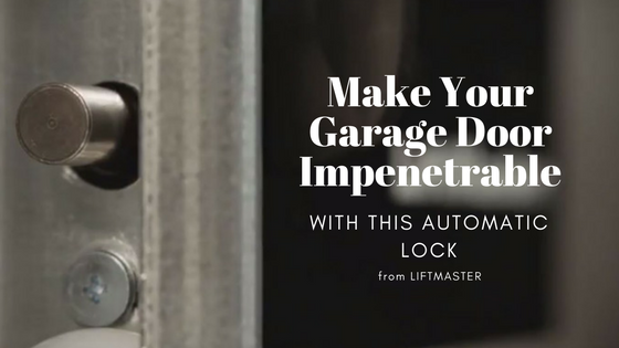 automatic garage door lock, can be smartphone controlled