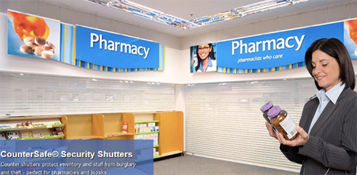 Retail Pharmacy Doors And Cases Texas Overhead Door