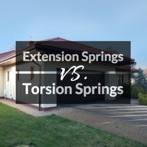 Types Of Garage Door Springs Extension Vs Torsion Springs