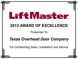 liftmaster award