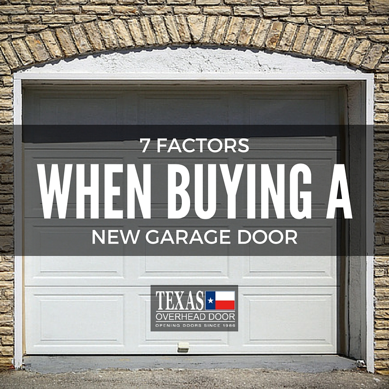 7 Factors To Consider When Buying A New Garage Door