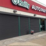Storefront Security Doors at O'Reilly Autoparts