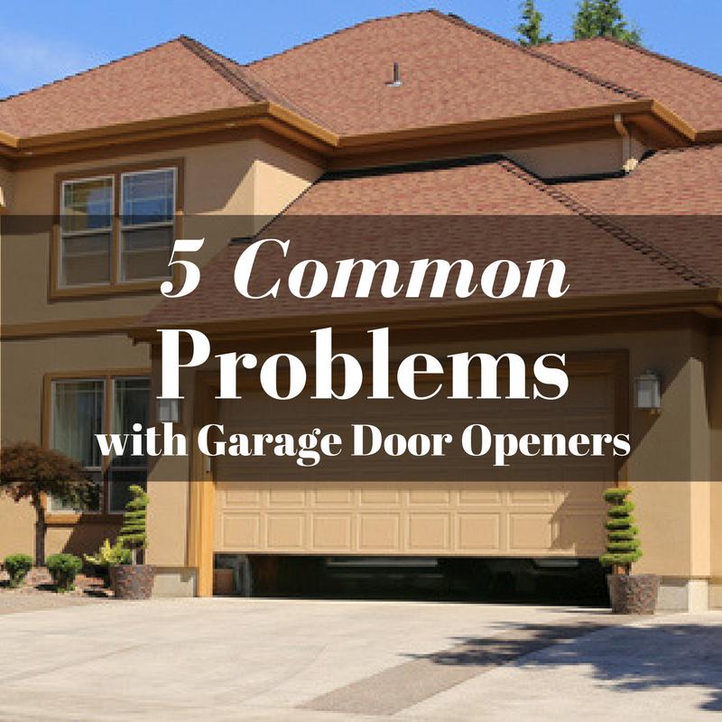 5 Common Problems With Garage Door Openers Texas