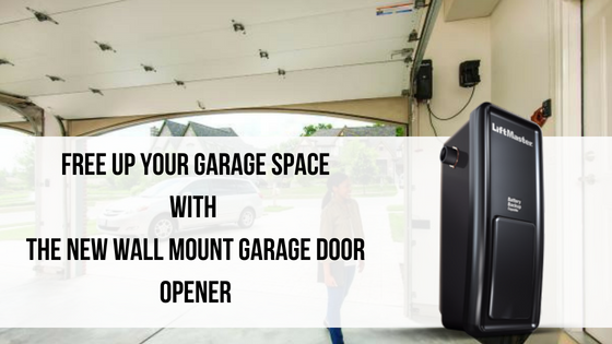 Save Garage Space with this New Wall Mount Garage Door Opener