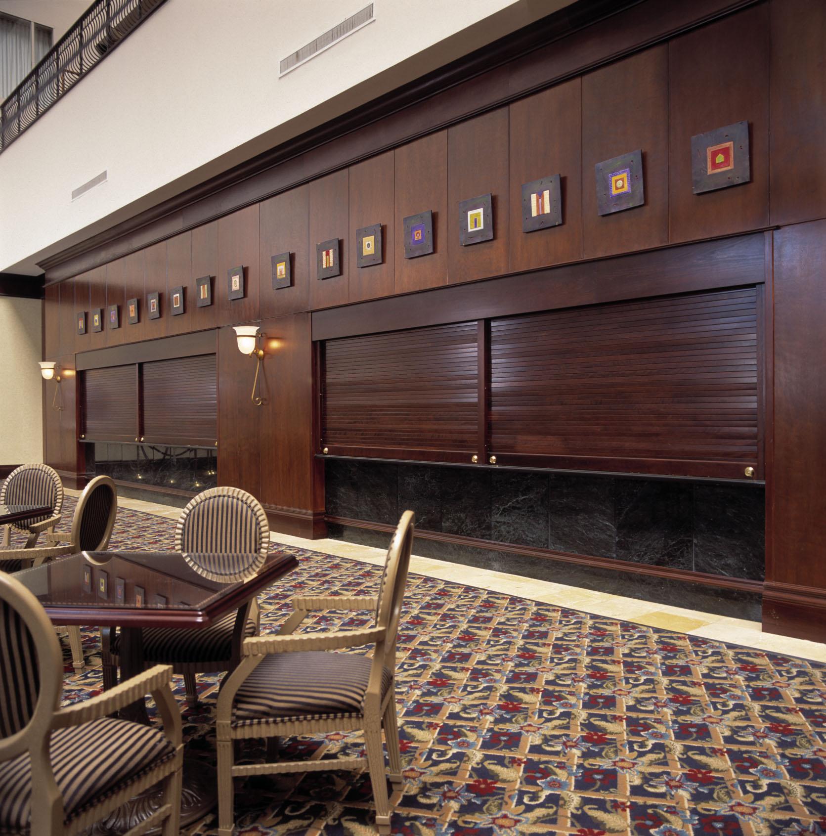 Roll up doors interior -  Wooden Shutters